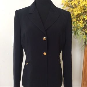 Tahari Women's Navy Blue Blazer Jacket Size 10.